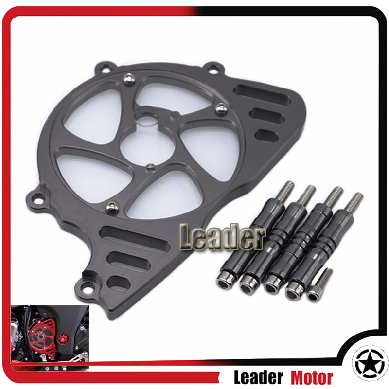 For KAWASAKI Z1000 Z 1000 2010-2016 Motorcycle Accessories CNC Front Sprocket Chain Guard Cover Left Side Engine Gray rubing matching motorcycle accessories ybr125k end cover assembly on the left side of ash
