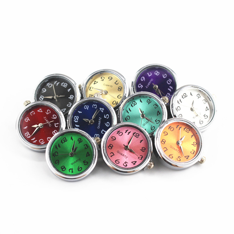 Mixs 10pcs/lot Glass Watch Snap Buttons Charms Fit 18mm/20mm