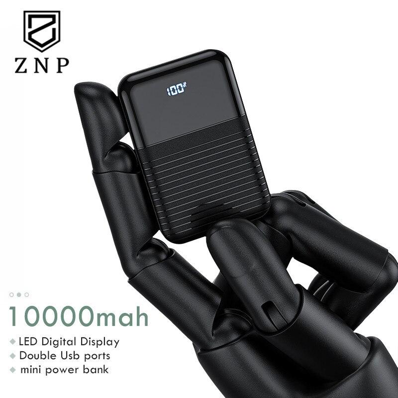 ZNP Mini Power Bank 10000mAh Fast Charging For Xiaomi Mi Powerbank Pover Bank Charger Dual Usb Ports External Battery Portable mini power bank 30000mah