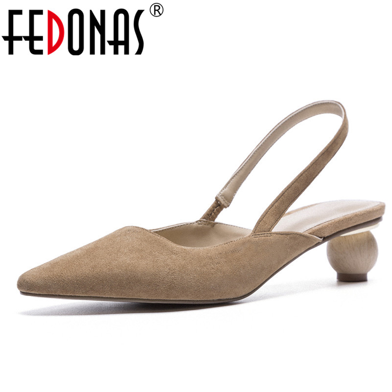 FEDONAS Sandals Women Summer Suede Leather Ankle Strap Sandals Shoes Woman Female Sandals High Heels Sandals Gladiator Shoes sandals women summer suede female gladiator roman 6cm wedges shoes