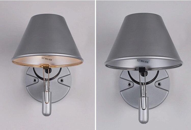 Portico lampade da parete in alluminio argento applique da parete