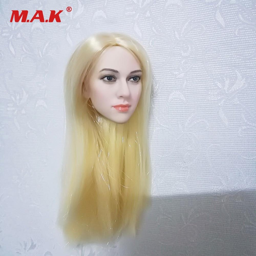 "1//6 Female Head Sculpt BLONDE HAIR For 12/"" PHICEN TBL JIAOU DOLL Figure U.S.A."