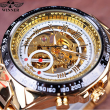 watches top hot New Number Sport Design Bezel Golden Watch Mens Watches Top Brand Luxury Clock Men Automatic Skeleton Watch