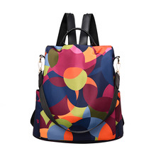 Women Wild Travel Backpack Colorful Oxford Cloth Student Bag School Mochilas Mujer 2019 Mochila Feminina