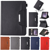 Business Flip High Quality Leather Case For Apple IPad 9 7 2017 Smart Stand Holder Case