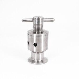 """Image 1 - 1.5 """"Tri Clamp 0.5 5 Bar Verstelbare Overdrukventiel Veiligheidsventiel Sanitair SUS 304 Roestvrij Staal Bier Brouwen vergister Vaatje"""