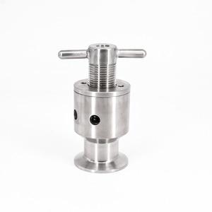 """Image 1 - 1.5 """"Tri Morsetto 0.5 5 Bar Regolabile Limitatrice di Pressione Valvola di Sicurezza Sanitari SUS 304 In Acciaio Inox Birra di Fermentazione fermentatore Keg"""