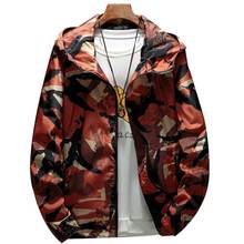Zozowang Autumn men Jacket Mens Hip Hop Slim Fit  Male Bomber Jacket Fashion Camouflage jacket Men's Hooded Coat plus size 3XL