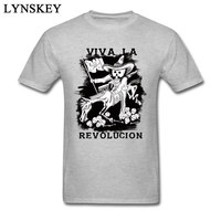 Viva la Revolucion 2018 Liệt Kê Mới Sơ Mi Tee Nam Vải Cotton Vui Vẻ T-Shirt Short Sleeve Casual Phong Cách Màu Xám