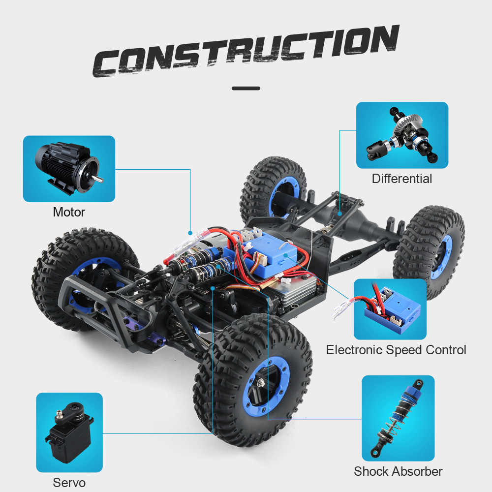 JJRC JJRC Q46 112 2.4G RC Car 4WD 45kmh High Speed Rock Crawler Desert Buggy Cars RTR for Kids Children Gifts RC Toys (14)