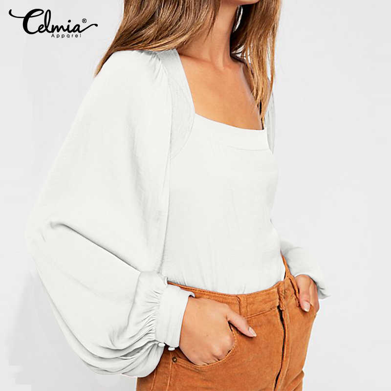 Женские блузки 2019 осенние рубашки с длинными рукавами cellia женские вечерние топы Свободные повседневные однотонные Блузы Mujer плюс размер сорочка