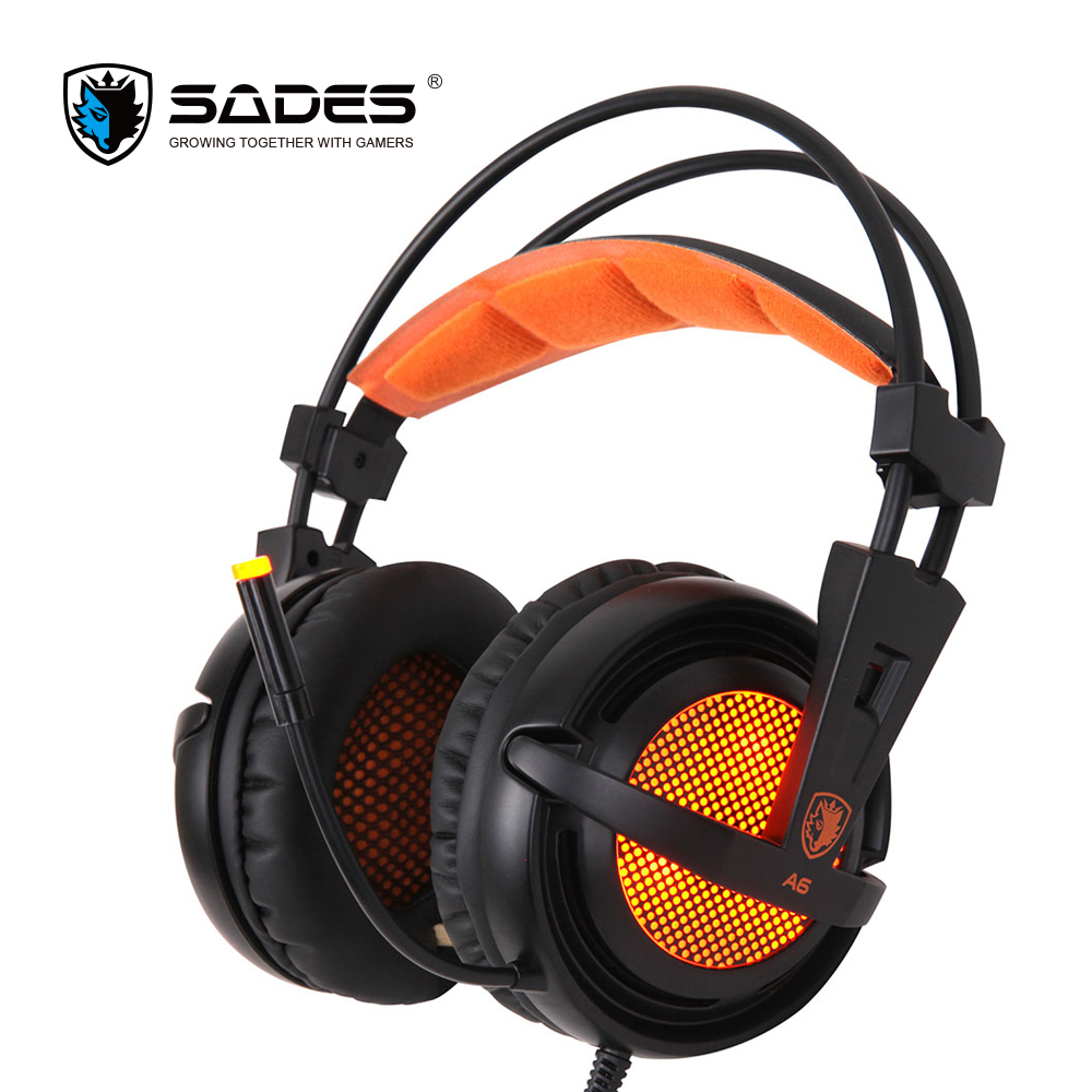 SADES A6 Virtual 7.1 Stereo Surround Headphones LED Ear Muffle Headphone USB Mic & Voice Control Gaming Headset for Gamer a gis database centric architeture for 3d mmog virtual worlds