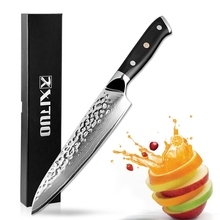 XITUO 8 Inch VG10 Damascus Steel Kitchen Knife 67 Layers Handmade Santoku Paring Japan Chef Utility Dining Knives Easily Handle