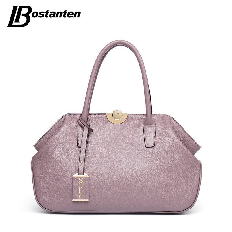 BOSTANTEN Designer Genuine Leather Bags Ladies Famous Brand Women Handbags High Quality Tote Bag for Women Fashion Hobos Bolsos 4sets herringbone women leather messenger composite bags ladies designer handbag famous brands fashion bag for women bolsos cp03