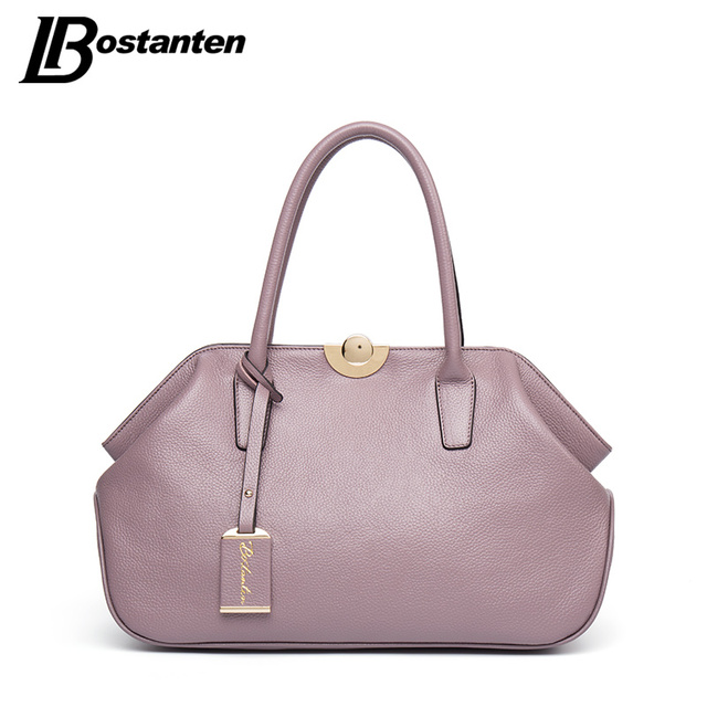 Bostanten Designer Genuine Leather Bags Las Famous Brand Women Handbags High Quality Tote Bag For