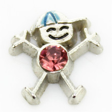 hot selling 10PCS little boys october birthstone floating charms for glass floating lockets