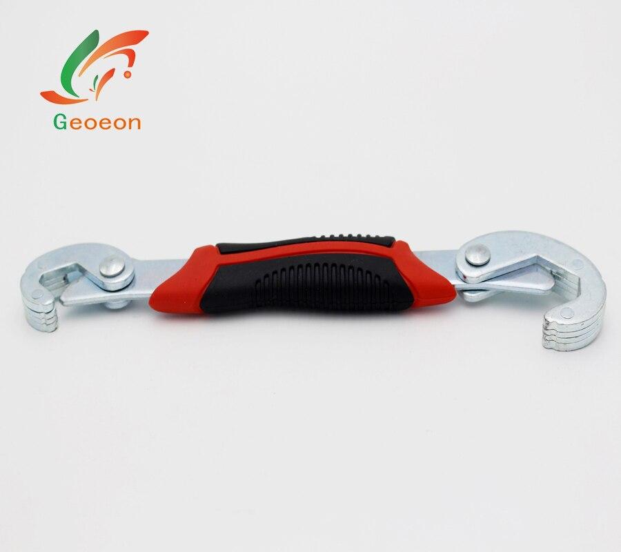 Geoeon 2 pc 9-32 millimetri Multi-funzionale antiscivolo Set di Chiavi chiave a cricchetto utensili a mano Per dadi e Bulloni di Tutte Le Forme e Dimensioni D1