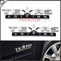 2 pcs Acabamento Cromado 3D Emblemas Emblema Para Chevrolet Silverado Texas Edição, GMC Sierra (Também Universal Para Ford e Dodge Caminhões)