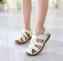 2017 new children shoes boy sandals summer students Baotou non-slip soft bottom child/kids beach shoes 2-4-6-7 years old
