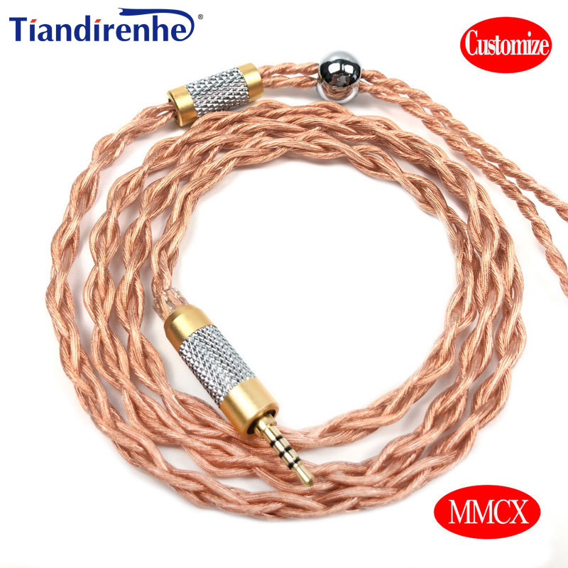 New 4 core 3 5mm 2 5mm 4 4mm enhanced upgrade oxygen free copper Earphone MMCX cable For Shure SE215 SE846 SE535 UE900 in Earphone Accessories from Consumer Electronics