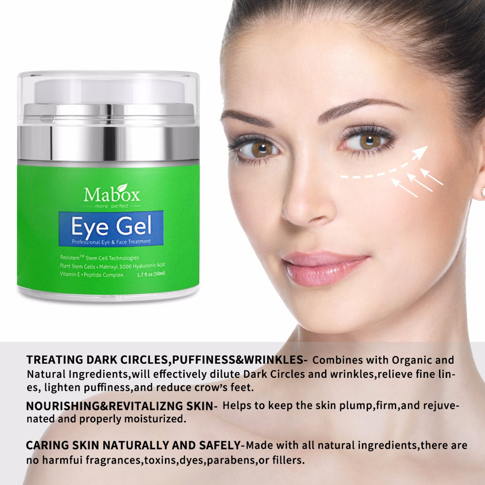 MaBox Eye Cream Rosehip Hibiscus For Appearance Of Fine Lines, Wrinkles, Dark Circles, And Bags - Intensive Anti-Aging Cream