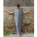 2017 Summer Maxi Dress Women Short Sleeve Party Dresses Loose Long Boho Polka Dot  Dress Plus Size Women Clothing Vestidos