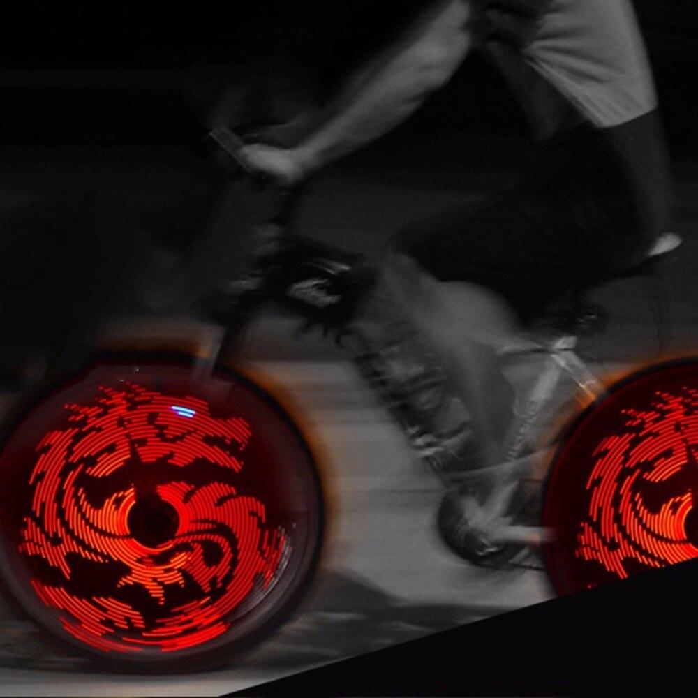 Venta caliente diseño DIY USB recargable bicicleta rueda luz D020P impermeable rueda colorida luz de la noche