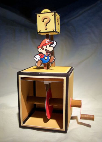 New Wholesale 10cm Papermodel Papercraft Cardm Hand-made Paper Model Toy Super Mario with Mushroom Figure Doll Game Toy In Stock