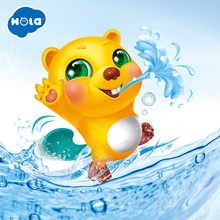 HOLA 8102 Frog Music Kids Bath Toy Bathtub Soap Automatic Bubble Maker Baby Bathroom Toy for Children(China)