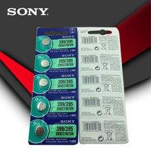 10pc sony 100% original 395 sr927sw 399 sr927w lr927 ag7 1.55v relógio bateria sr927sw 395 botão da pilha da moeda feita no japão