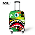 Travel Luggage Protective Cover Cute Stretch Luggage Cover for 18-30 Inch Suitcase Monster Graffiti Print Elastic Suicase Cover