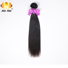 AliAfee Straight Hair Bundles 1 Pc Peruvian Hair Bundles Non Remy Hair Extensions 8''-28'' Can Buy 3 Bundles Deal Free Shipping(China)