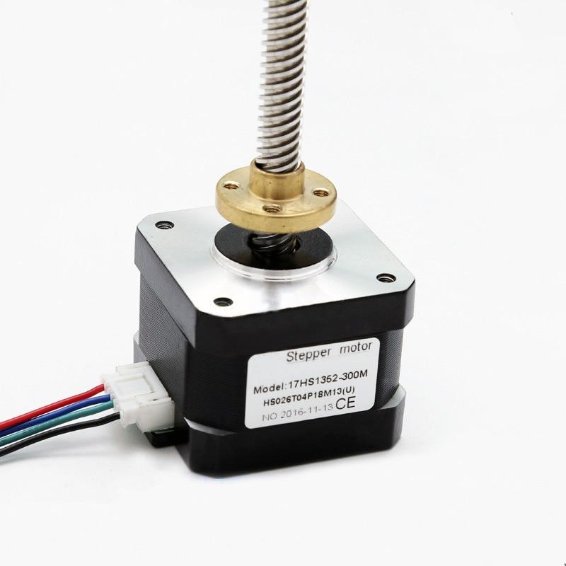 Stepper motor 42 2 PHASE 4-lead Nema17 motor 300mm T8 linear wire rod 40mm 1.7A 0.45N.M LOW NOISE motor threaded nema17 stepper w 460mm tr8 12 leadscrew acme leadscrew threaded rod nema17 stepper motor