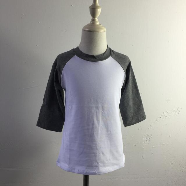7ac647757c Fashion Custom toddler baby clothes Blank Cotton Printing Baseball 3 4  Raglan Sleeve T Shirt