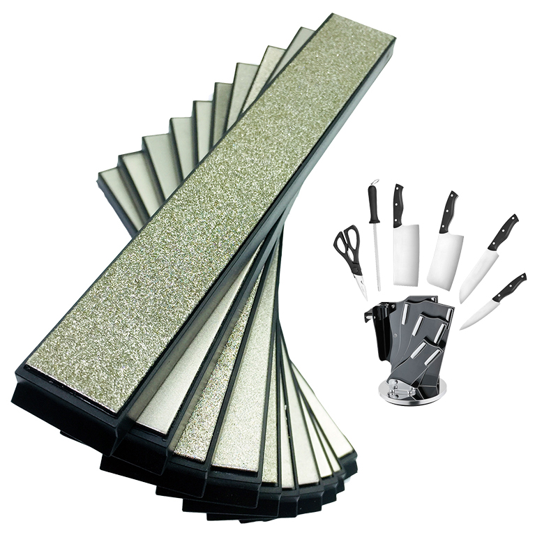 7 unidades cocina portátil cuchillo Apex Pro sacapuntas diamante whetstone molienda whetstone Hone piedra 80-2000Grit