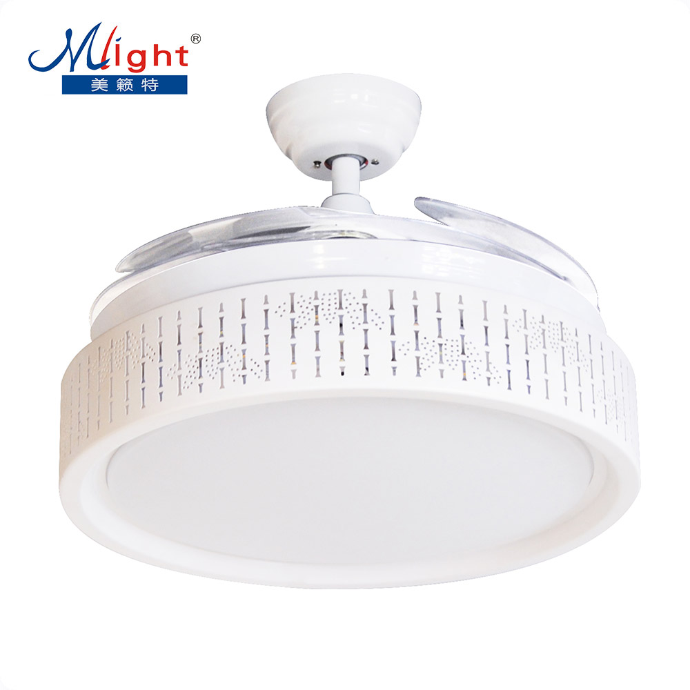 Led invisible fan lamp modern minimalist bedroom living - Bedroom ceiling fans with remote control ...