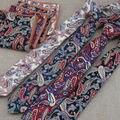 Muchos patrón de flores de marañón corbata estrecha de los hombres novio guapo pequeña merecen actuar el papel de toalla bolsillo con corbata