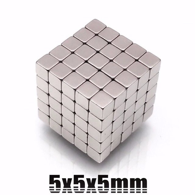 10/20/50pcs Powerful N35 Neodymium Magnets 5*5*5mm Super Strong Cuboid Cube Double Nickel Plated Rare Earth Magnets