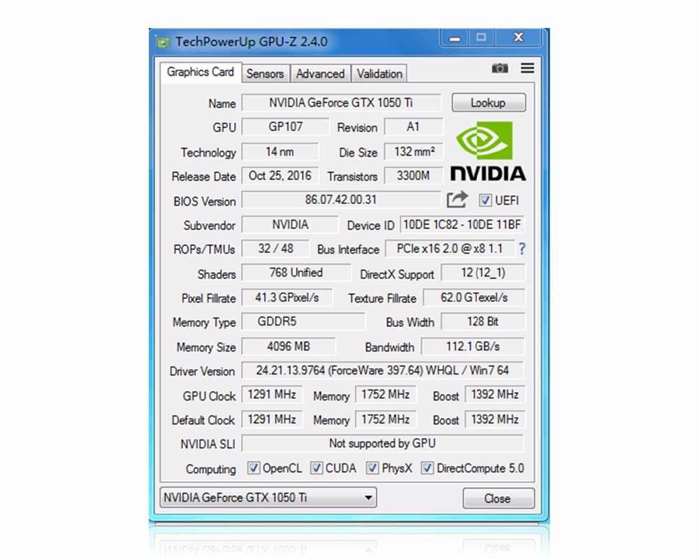 بطاقة جرافيكس PCI-E GTX1050TI 4 جيجابايت/4096 ميجابايت DDR5 128Bit بلاكا دي فيديو كارت graphique الفيديو بطاقة ل نفيديا