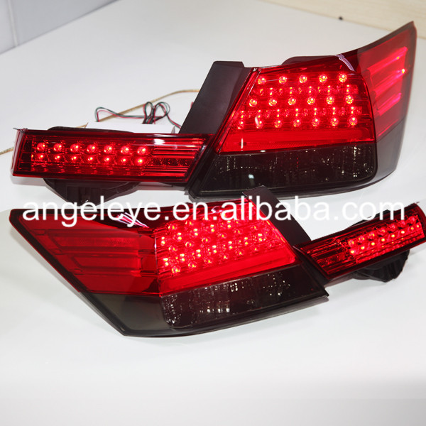 For HONDA Accord LED Tail Lamp 2008-2012 year Red Black Color for benz style YZ 2009 2012 year for chevrolet cruze all led tail lamp realights red white for mercedes benz style bw v4