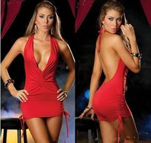 Wholesale 2 pc/lot Sexy Lingerie V-neck sexy low uniforms nightclub installed package hip Europe game 112512
