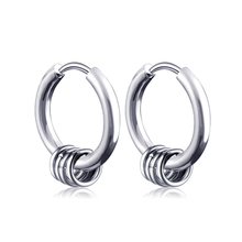 f3056fea5 1 Pair 2PC Punk Style Titanium Steel Round Circle Stud Earrings Men Hip Hop Earrings  Male