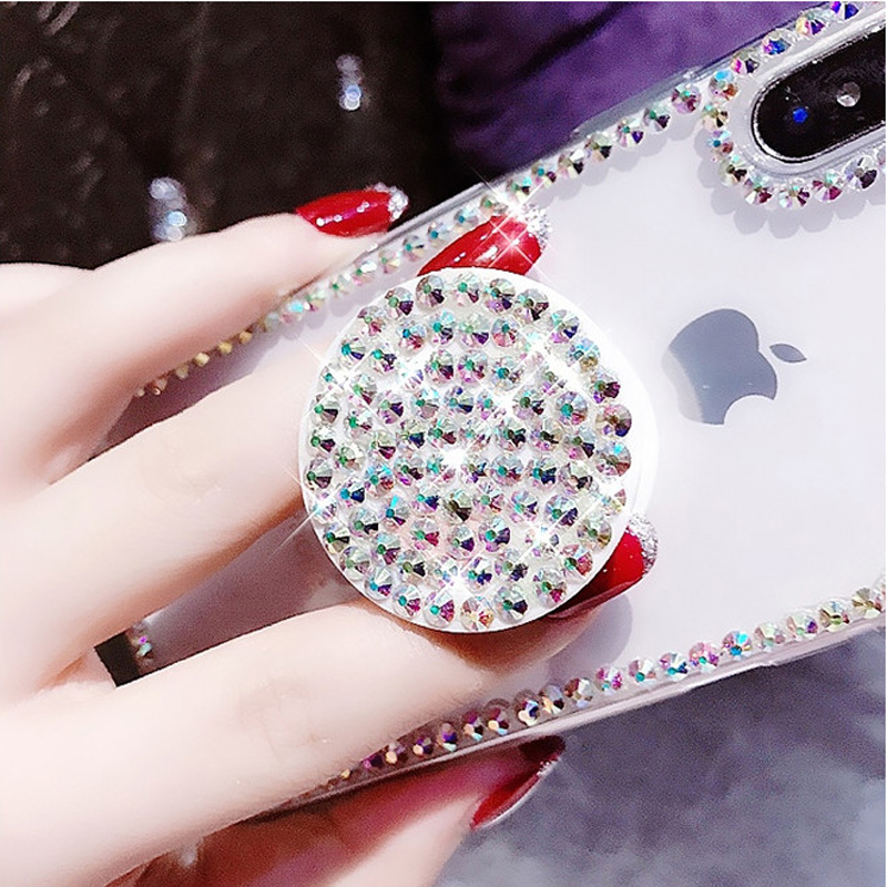 cff3a87815 Bling Clear Phone Iphone X 8 7 6 6S Plus XR XS MAX Thin Slim Transparent  Diamond Stander Holder Cases ...
