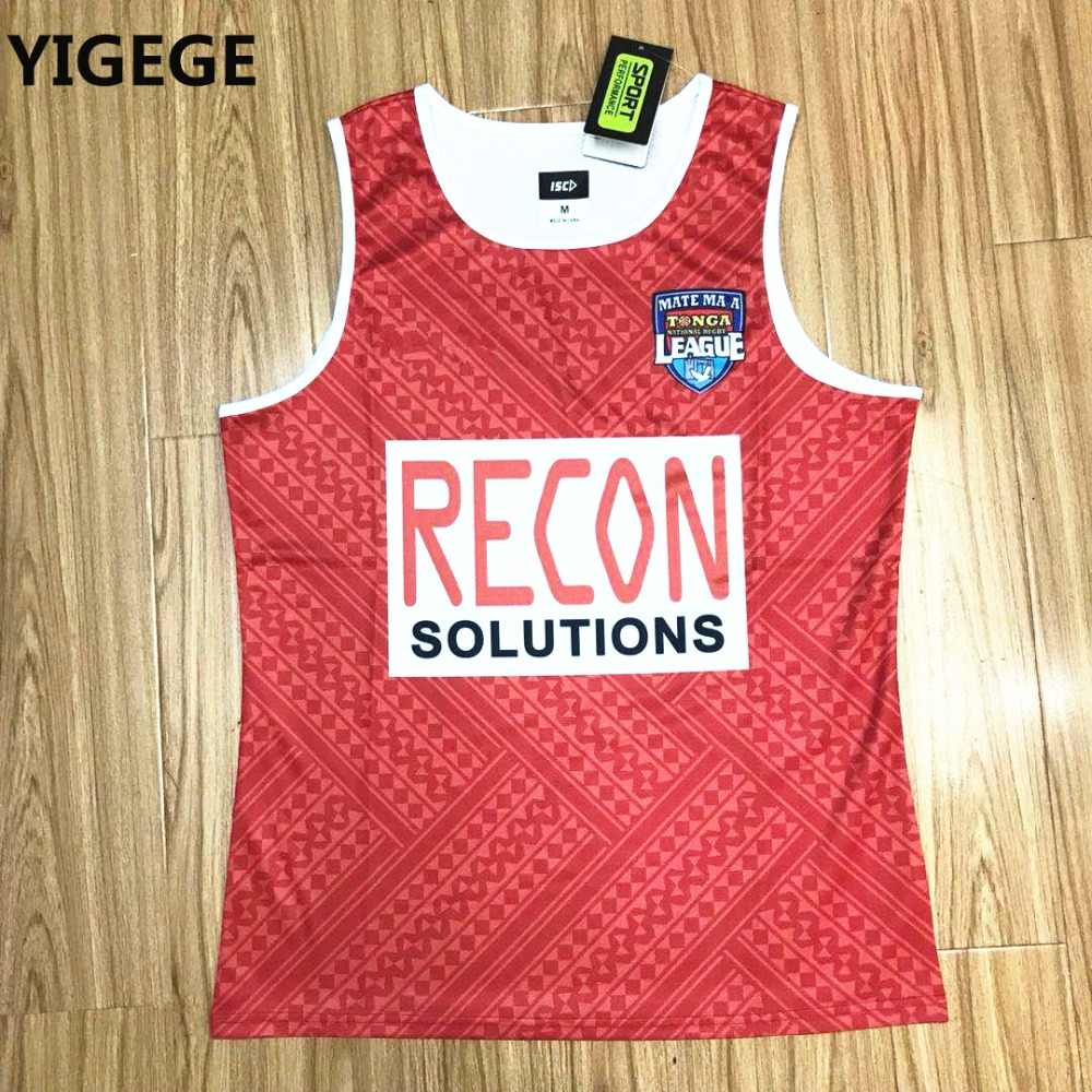87e7c9be334 Detail Feedback Questions about YIGEGE 2019 TONGA NATIONL LEAGUE PACIFIC  TEST shirt Tonga Rugby Jersey Singlet vest League jersey S 3XL on  Aliexpress.com ...