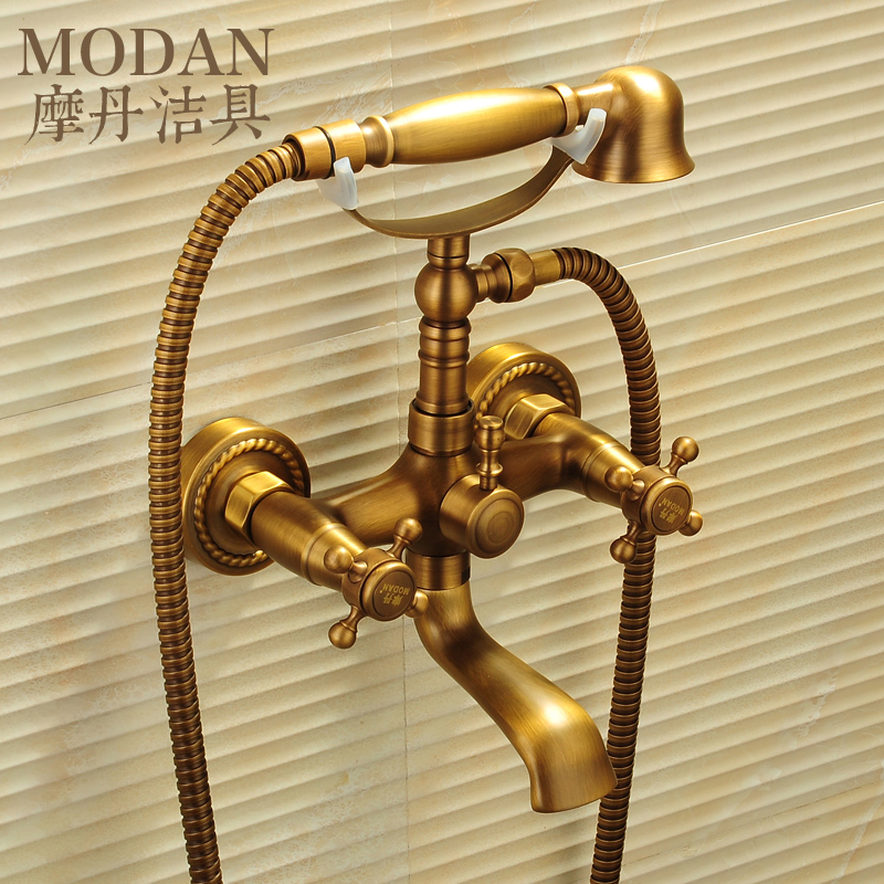 antique copper bathtub faucet shower faucet bathroom faucet triple ...