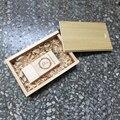(Более 5 шт. Бесплатно Логотип) USB 3.0 Super speed 16 ГБ Реальная Емкость Вуд USB Flash Drive с деревянная Коробка Подарка, Логотип Выгравировать