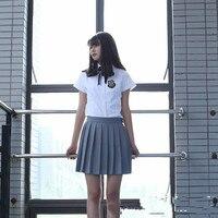 High School Uniforms Schoolgirl Graduation Clothing Summer Short Sleeve Sets Photos Of Girls School Uniform Adult Sailor Uniform