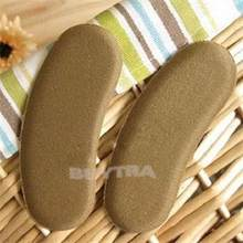 1Pairs Sticky Fabric Shoe Back Heel Inserts Insoles Pads Cushion Liner Grips Foot Protect Shoe Insert Foot Care(China)