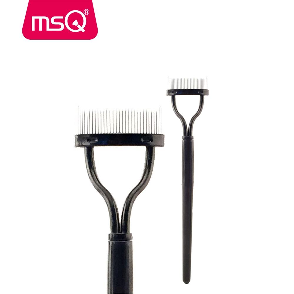 2pcsMSQ Mascara Applicator Guide Makeup Brush Comb Eyelashes