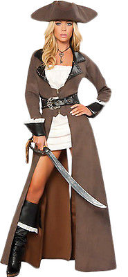 Halloween Cosplay Adult Women Pirates of the Caribbean Costume Fancy DressOutfit